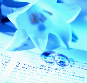 Wedding Bands on a Bible with Lily - copy